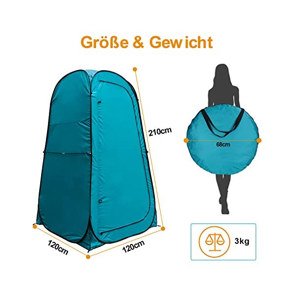 41Z 4zpe5qL YUANJ Camping Duschzelt, Pop Up Toilettenzelt Wasserdicht Umkleidezelt, Outdoor Privat Mobile WC Zelt für Camping…