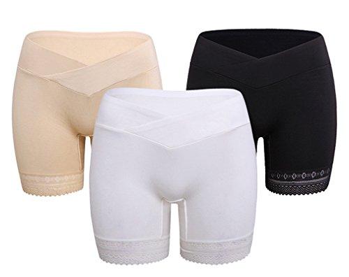 3pcs Mutandine per Gestante Cotone Pantaloncini Corto Boxer Maternit