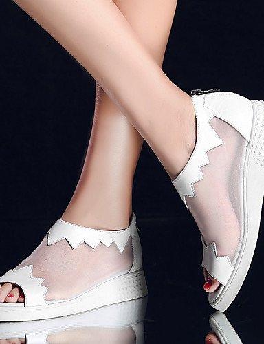 White Tac¨®n Comfort A Cn34 Planos Botas Sandalias us5 La Mujer Gladiador Redonda Zapatos De Zq Moda Plano Uk3 Innovador Abierta Punta Eu35 0t4Tp