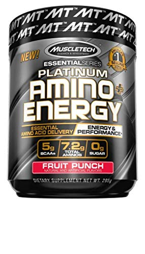 Energy Punch (Muscletech Essential Series Platinum Amino Energy, Fruit Punch, 295 Gram)