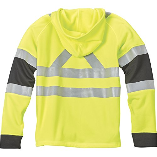 Full-Zip Hoodie Lime 2XL Gravel Gear HV Men/'s Class 3 High Visibility 9.4-Oz