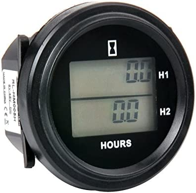 rl-hm005h Digital Reset DC LCD Contador de horas redondo de doble ...