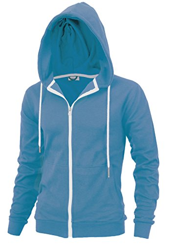 Delight Men's Fashion Fit Full-Zip Hoodie With Inner Cell Phone Pocket (US XX-Large, Sky Blue) by Lite Delights