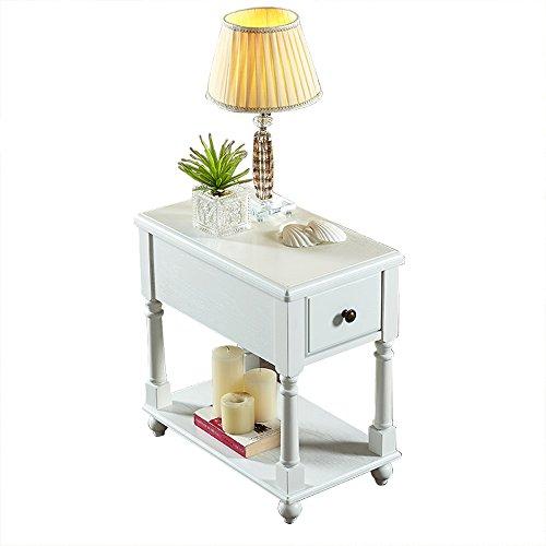 Bedside Table Bedside Table - Drawer Locker Solid Wood Coffee Table Sofa Side Tables Coffee Tables Side Table Modern Bedroom Table Furniture(Assembled,Size:56x33x59cm) (Color : C) ()