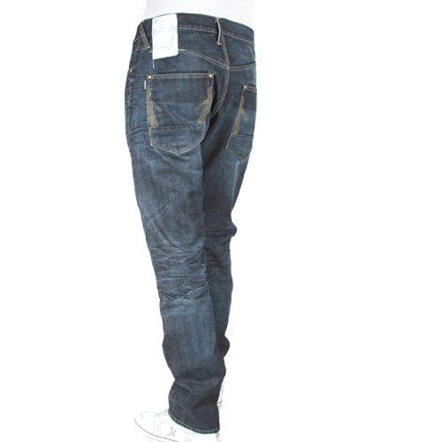 ijin Homme j524123l1ligne rouge vintage Lavage Denim Jeans ijin2241