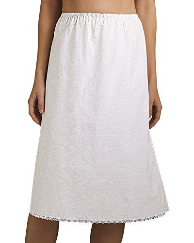 Velrose 100% Cotton Half Slip, White, - Slip Maternity Half