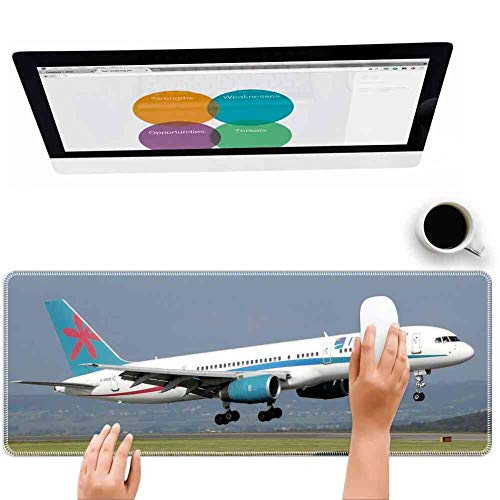 Mouse Pad Rectangle Mouse Pad Airplane Takeoff B757 Aircraft Aviation Commercial #545316 Team 260mm210mm3mm