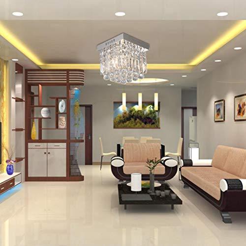 ☀ Dergo ☀ Crystal chandeliers,Crystal Ceiling Light Modern Chandelier Lighting W10 x H10IN Raindrop Design (Crystal Light Ceiling Cover)