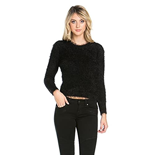 Black Fuzzy Sweater: Amazon.com