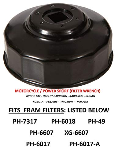 APSG Oil Filter Wrench Motorcycle/Powersports Fit: Filters > .FRAM : PH7317 PH6607 XG6607 PH6617 PH6617A PH49 PH6018 Filters
