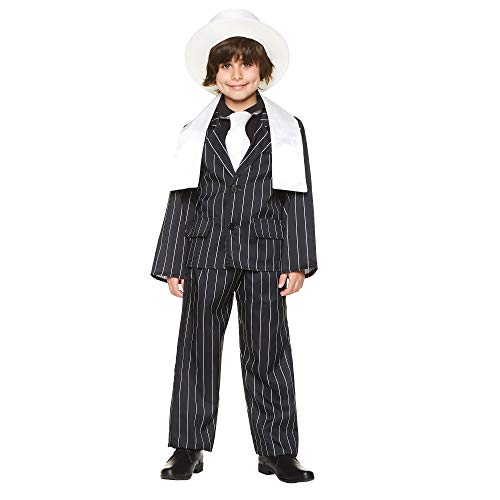 Boy's Gangster Boss Suit Costume - for Halloween Party Accessory - Large