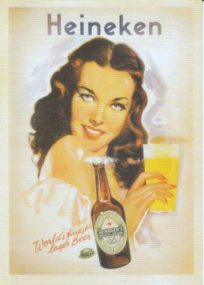 unused-postcard-heineken-beer-lady