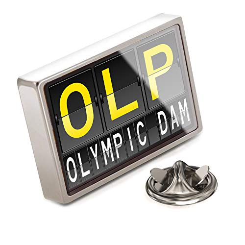 (NEONBLOND Lapel Pin OLP Airport Code for Olympic Dam)