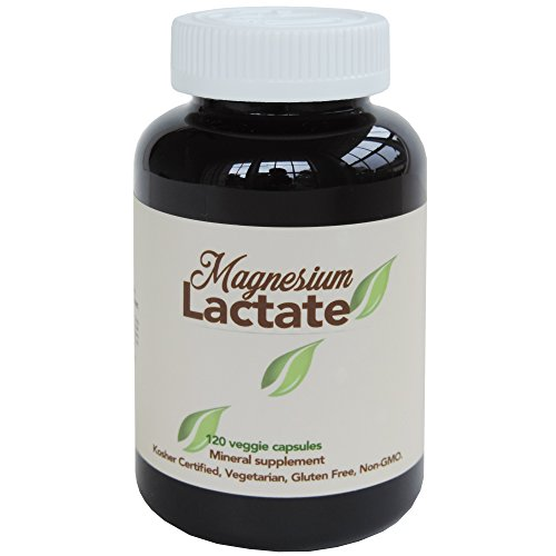Magnesium Lactate 500 mg per serving, 120 easy to swallow small Vegetarian capsules. Gluten Free. Doctor formulated. Highly bioavailable formulation. High Absorption. Made in USA.