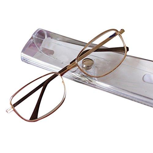 9456de1e71 Deylaying Gafas de lectura Guardia Metal Marco Gafas de lectura Vintage  Alto Graduación 4.5 5.0 5.5