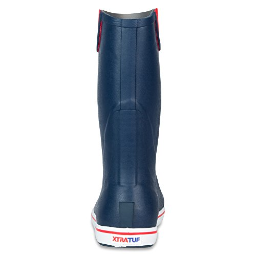 XTRATUF Performance Series 12'' Men's Full Rubber Deck Boots, Navy & Red (22732) by Xtratuf (Image #3)