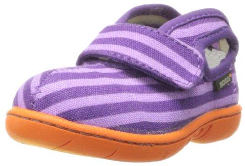 Bogs Baby Canvas Mid Stripe Sneaker , Violet Multi, 5 M US T