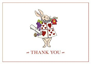 amazon com thank you notes stationery thank you cards alice in