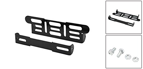 uxcell Black Universal Motorcycle Adjustable License Number Plate Bracket Frame Holder a17022700ux0982
