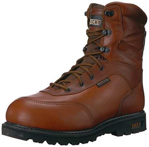 Mens Da Uomo Rks0185 Mid Boot Medio Marrone