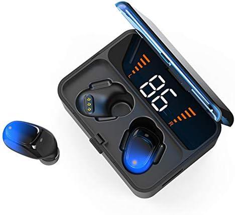 タッチワイヤレスBluetoothヘッドセットV5.0、デュアルチャンネルノイズリダクションイヤホン9Dステレオスポーツ防水ヘッドフォンハンズフリーLEDパワーディスプレイzz,B