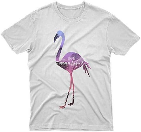 fm10 - Camiseta de Flamenco para Hombre y Mujer, diseño Divertido Bianco Large: Amazon.es: Ropa y accesorios