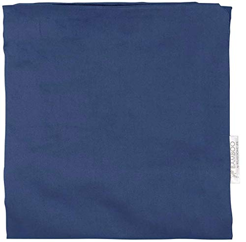 Relax Home Life Wedge Pillowcase Designed To Fit Our 7.5' Bed Wedge 25'W x 26'L x 7.5'H, Hypoallergenic 100% Egyptian Cotton Replacement Cover, Fits Most Wedges Up To 27'W x 27'L x 8H' (Dark Blue)