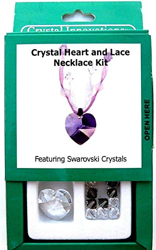 Crystal Heart & Lace Necklace Project Kit featuring Swarovski Crystals Beads