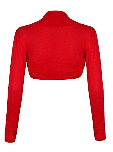 Bolero Longues Plaine Cardigan Plus Manches Taille Rouge Femmes Haussement Top wZ1qXxq6