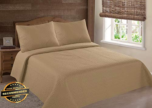 Werrox Midwest NENA Solid Quilt Bedding Bedspread Coverlet Pillow Cases Set Twin Twin Size   Quilt Style QLTR-291267539