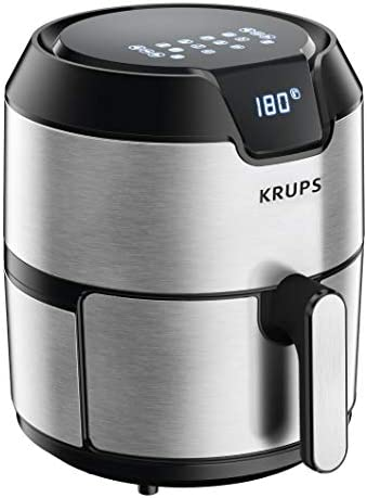 KRUPS 1510001480 EY401 4.2L Digital XL Air Fryer, 8 presets, Dishwasher safe, Removable Basket, Stainless Steel, 4.2 L