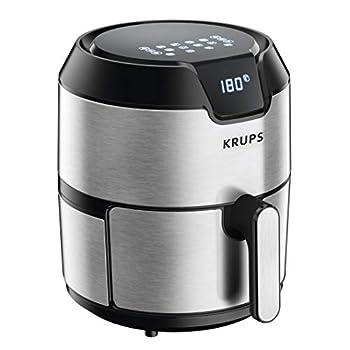 Image of Home and Kitchen KRUPS 1510001480 EY401 4.2L Digital XL Air Fryer, 8 presets, Dishwasher safe, Removable Basket, Stainless Steel, 4.2 L