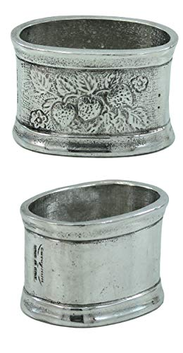 Pewter Hexagonal Napkins Silver Vintage Italian Excellence Handmade CAVAGNINI