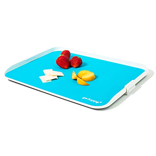 Go Happy Kids Travel Tray - Easily Attaches to Airplane & Train Tray Tables! Lightweight, Sturdy, Easy to Clean & Stow Travel Tray ()