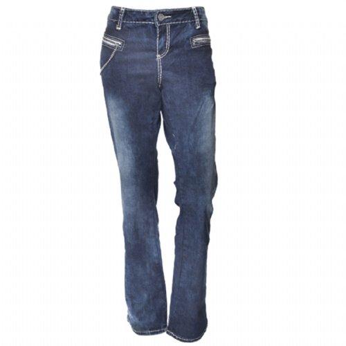 Ed Hardy Womens Blue Stone Wash Chain Bootcut Jeans- Dark Vintage