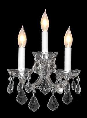 Wall Sconce Crystal Chandelier - Swarovski Crystal Trimmed Chandelier! Maria Theresa Wall Sconce Lighting H11.5