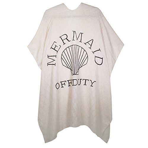 Me Plus Women Summer Beach Cover Up Kimono with Lettering (2 Styles) (Mermaid-BE)