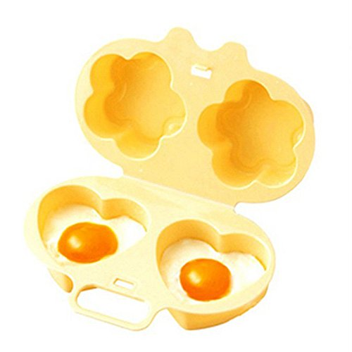 [Microwave Oven Two Egg Poacher Sandwich Breakfast Instant Cookware Kitchen Tool (Yellow)] (Bacon And Egg Halloween Costume)