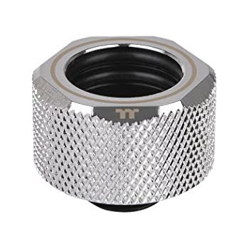 Thermaltake Pacific Chrome 4 Build-in O-Rings C-ProG1/4 PETG 16mm OD Compression Fitting CL-W213-CU00SL-A