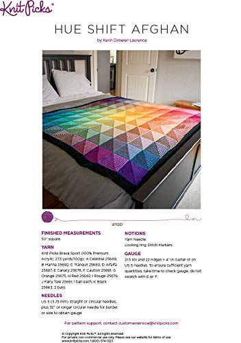 Knit Picks Hue Shift Afghan Complete Knitting Project Kit (Rainbow) by KnitPicks (Image #7)