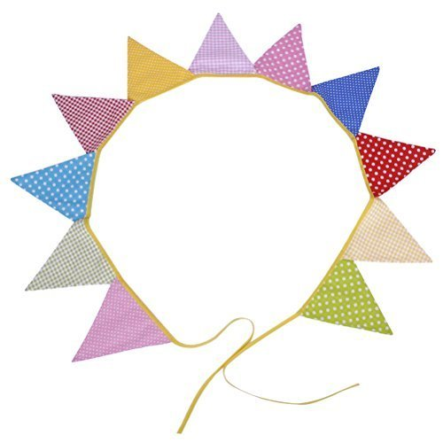 Tinksky Wedding Bunting Decoration Supplies 11pcs