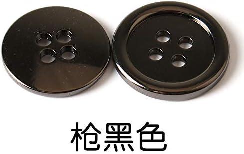 GDSZN Botones Metal Redondo Hebilla de Cuatro Ojos Abrigo Camisa Camisa Botones Hombres Mujeres Ropa Suéter Chubasquero Botón Negro 23Mm [Enviar Costura] Pistola Negro [Uno 6]: Amazon.es: Hogar