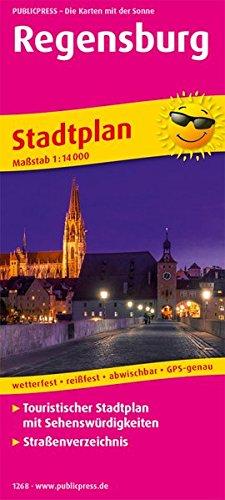 Regensburg: Touristischer Stadtplan mit Sehenswürdigkeiten und Straßenverzeichnis. 1:14000 (Stadtplan / SP)