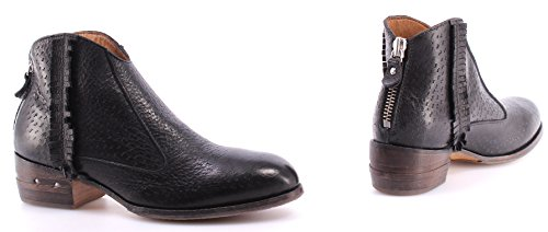 Zapatos Mujer Botines MOMA Ankle Boots 32702-PA Pecary Nero Negro Vintage Italy