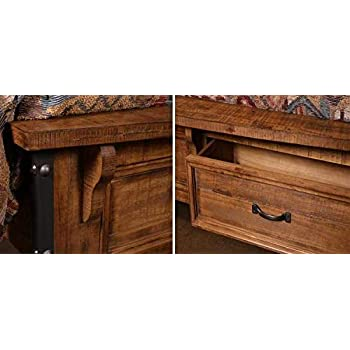 Urban Rustic Storage Bed W/Drawers Queen