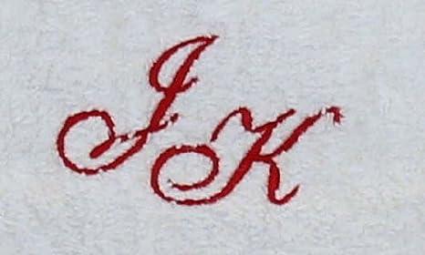 Toalla de 30 x 30 cm Nueva York blanco con iniciales, bordado/bordado con tus iniciales, bordado rojo 1904: Amazon.es: Deportes y aire libre
