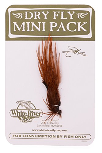 White River Fly Shop Dry Fly Hackle Mini Packs - Size 16 and 18