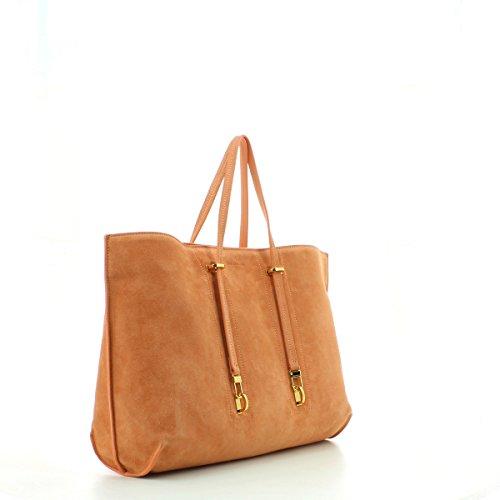 Calidad Original Pago De Descuento Con Paypal Coccinelle Iggy Suede shopping bag leither chamois grapefruit n6HNNKdh5