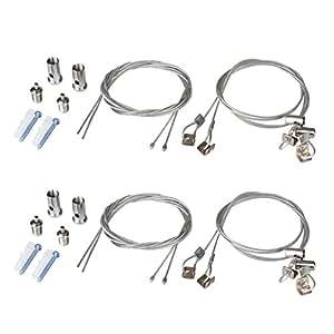 Ottff 2set 8pcs lights suspension kit for Kit suspension luminaire