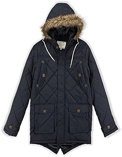 JIINN Mens Winter Thicken Warm Fur Hooded Coat Outdoor Fashion Casual Jacket Windbreaker Parka Detachable Hood